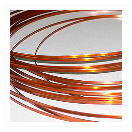 AI Enameled flat copper wire